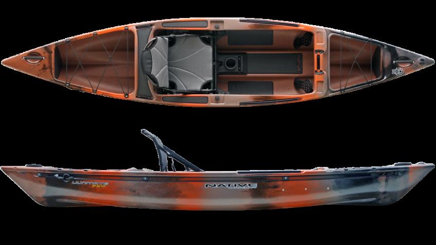Native watercraft ultimate fx 12 fishing kayak for Fishing kayak brands