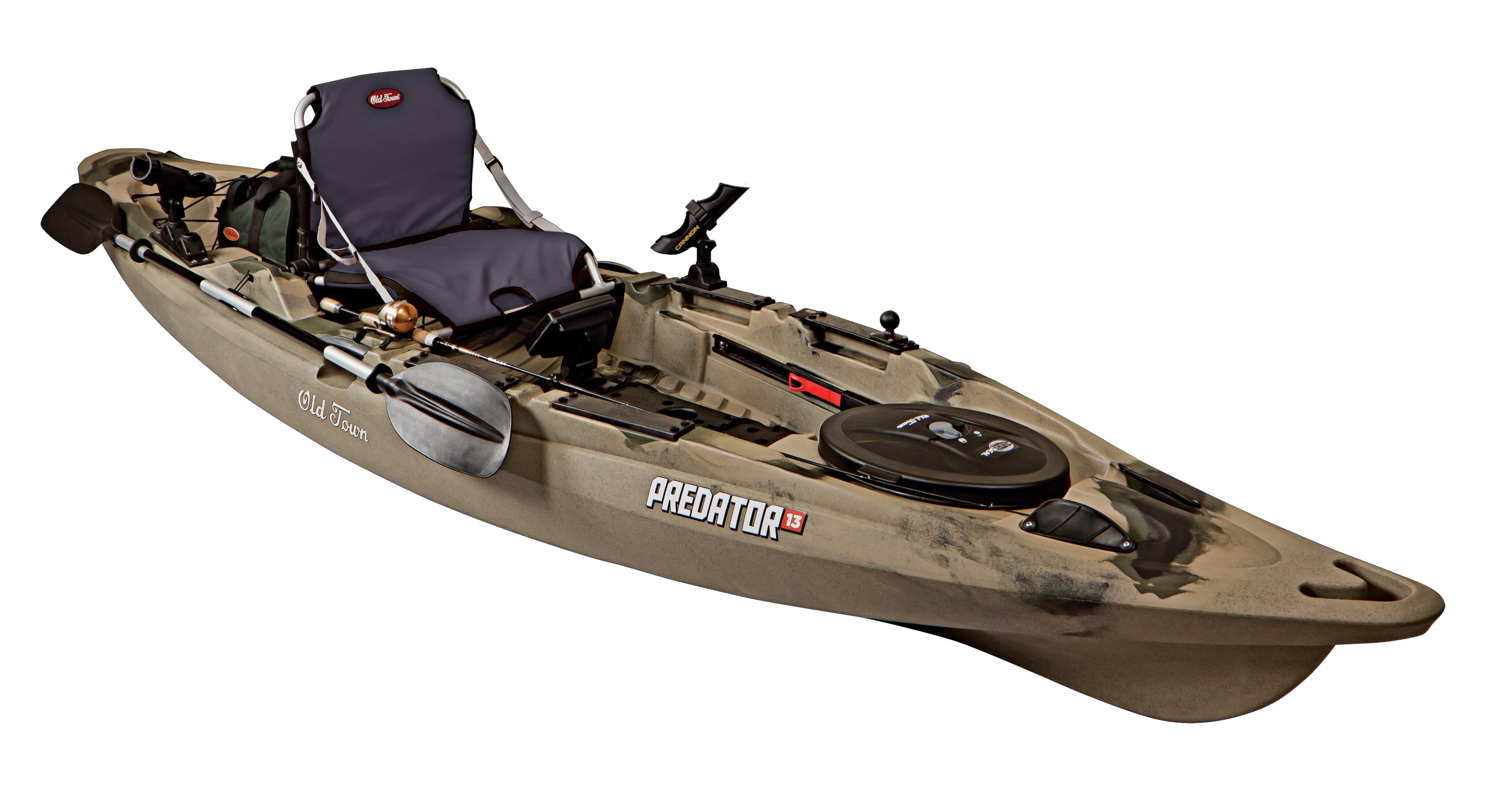 Old town kayaks predator 13 fishing kayak for Fishing kayak brands