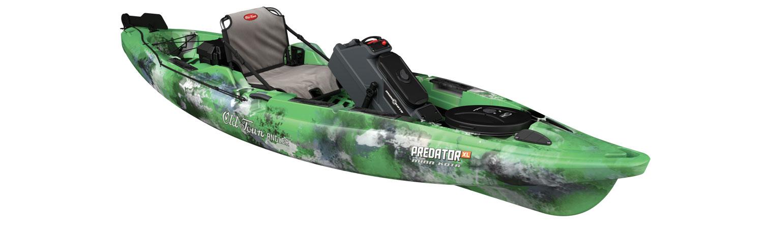 Old town kayaks predator xl minn kota fishing kayak for Predator fishing kayak
