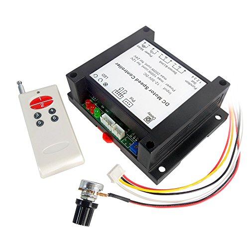 uniquegoods 12V-30V 24V 200W DC Wireless Remote Motor Speed Controller