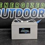 Energized Outdoors 12V 100AH Lithium LiFePO4 Battery w/Voltage Meter- Trolling Motor